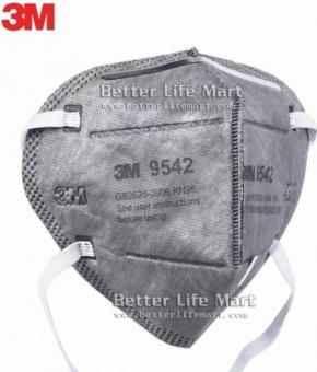 3M 9542 KN95 particulate respirator Activated Carbon face mask, 25pcs/box, huge sale